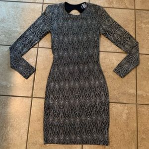 Divided sequin dress
